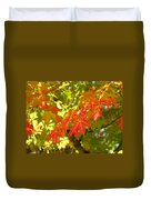 Colorful Fall Leaves Red Nature Landscape Baslee Troutman Duvet Cover