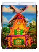 Colorful Fantasy Windmill Duvet Cover
