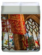 Colorful Flags And Stained Glasss Windows Duvet Cover