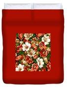 Colorful Floral Design Duvet Cover