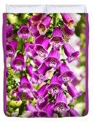 Colorful Foxglove Flowers Duvet Cover