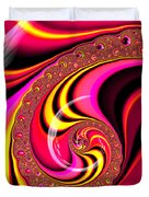 Colorful Fractal Spiral Red Yellow Pink Duvet Cover