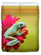Colorful Frog Duvet Cover