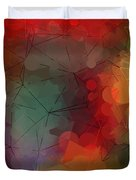 Colorful Geometric Pattern Abstract Art Duvet Cover