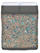 Colorful Glass Recycled For Construction Of Concrete Sidewalk Duvet Cover