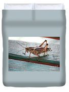 Colorful Grasshopper Duvet Cover