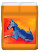 Colorful Greyhound Whippet Dog Painting Duvet Cover by Svetlana Novikova