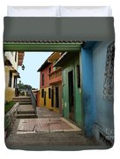 Colorful Guayaquil Alley Duvet Cover