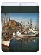Colorful Harbor Duvet Cover