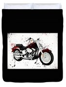 Colorful Harley Davidson Paint Splatter Duvet Cover