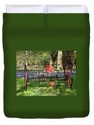 Colorful Hay Rake Duvet Cover