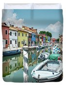 Colorful Homes Of Burano Duvet Cover