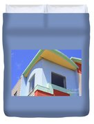 Colorful House In San Francisco Duvet Cover