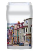 Colorful Houses In St. Johns, Nl Duvet Cover