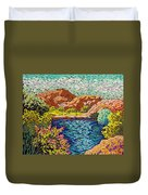 Colorful Hueco Tanks Duvet Cover
