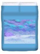 Colorful Icebergs - 3d Render Duvet Cover