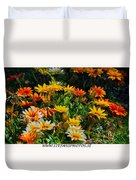 Colorful In The Garden  Duvet Cover
