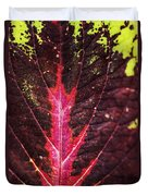 Colorful Leaf By Mother Nature Duvet Cover