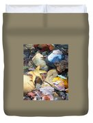 Colorful Leaves And Rocks In Creek Duvet Cover
