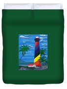 Colorful Lighthouse Duvet Cover