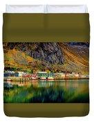 Colorful Lofoten, Norway Duvet Cover