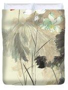 Colorful Lotus Duvet Cover