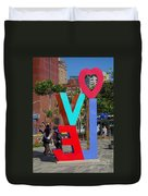 Colorful Love Sign In Kaohsiung Duvet Cover
