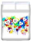 Colorful Love Duvet Cover