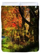 Colorful Maples Duvet Cover