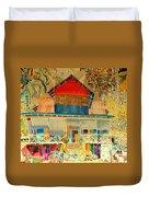 Colorful Mauritiun Cottage Duvet Cover