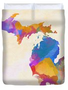 Colorful Michigan Duvet Cover