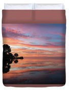 Colorful Morning Mirror - Spectacular Sky Reflections At Dawn Duvet Cover