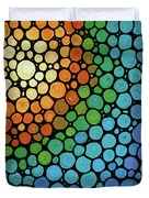 Colorful Mosaic Art - Blissful Duvet Cover