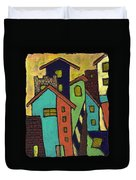 Colorful Neighborhood Duvet Cover