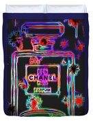 Colorful Neon Chanel Five  Duvet Cover