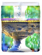 Colorful New Orleans Fountain Duvet Cover