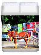 Colorful New Orleans Duvet Cover