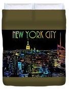 Colorful New York City Skyline Duvet Cover