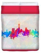 Colorful New York Skyline Duvet Cover