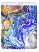 Colorful Night Dreams 5. Abstract Fluid Acrylic Painting Duvet Cover