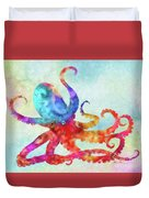 Colorful Octopus Duvet Cover