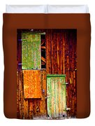 Colorful Old Barn Wood Duvet Cover