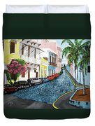 Colorful Old San Juan Duvet Cover