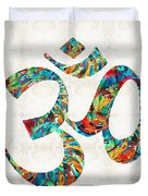 Colorful Om Symbol - Sharon Cummings Duvet Cover