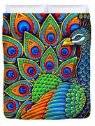 Colorful Paisley Peacock Duvet Cover
