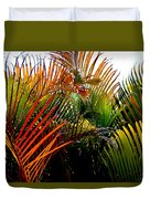 Colorful Palm Leaves Duvet Cover
