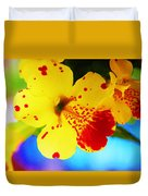 Colorful Pansies Duvet Cover