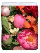 Colorful Paper Flower Blossoms  Duvet Cover