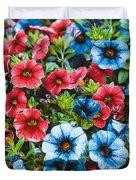 Colorful Petunias 2 Duvet Cover