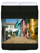 Colorful Piazza Duvet Cover